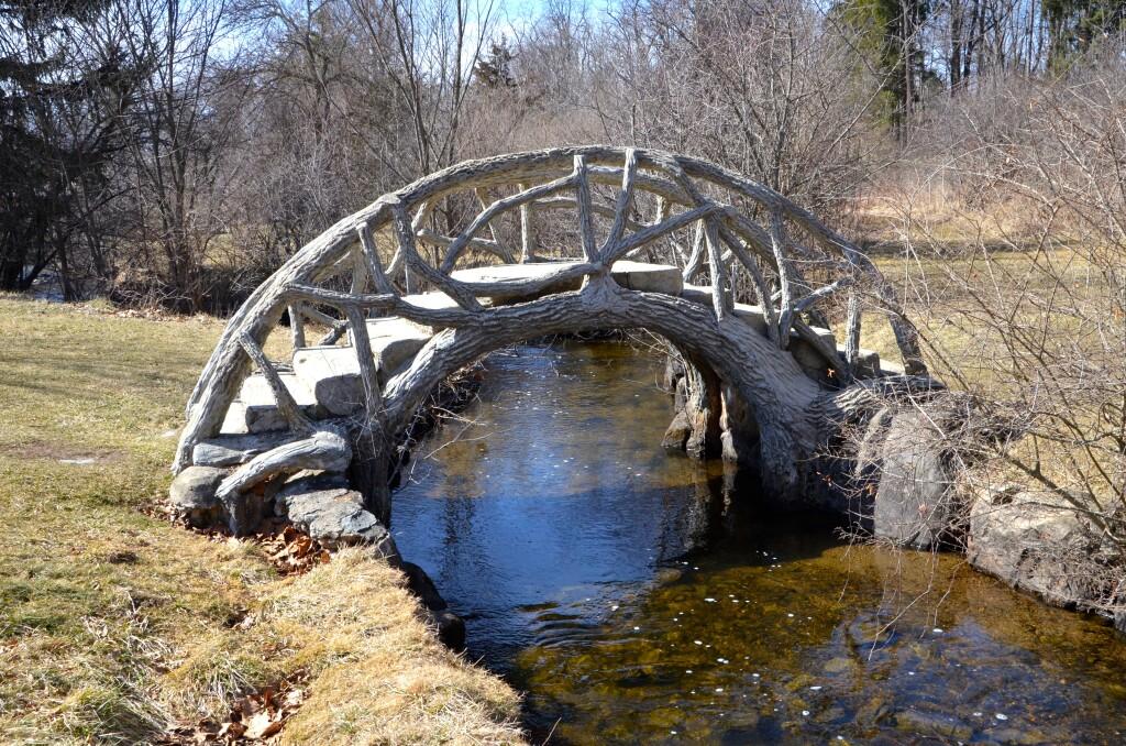 McCourtie Park Curved River Bridge Michigan