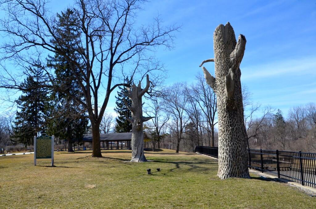 McCourtie Park Michigan Cement Trees Historic Marker