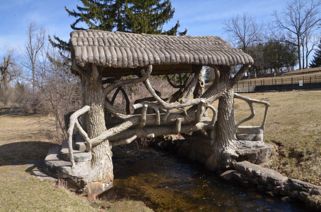 McCourtie Park Michigan Covered Bridge River