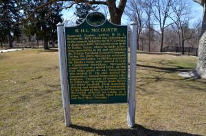 McCourtie Park Michigan Historic Marker
