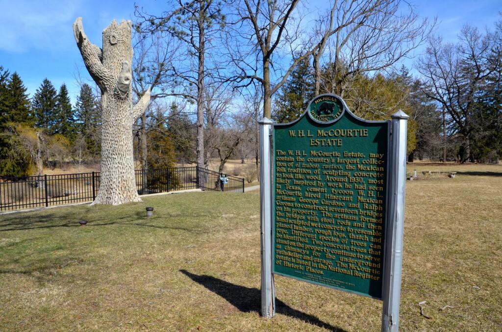 McCourtie Park Michigan History Cement Tree
