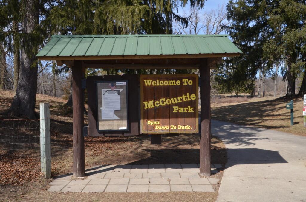 McCourtie Park Somerset Center Michigan Welcome Sign