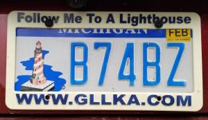 Michigan Lighthouse License Plate MLAP