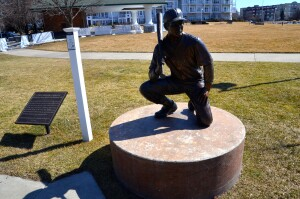 Put Me in Coach Ludington Baseball Mason County Sculpture Trail Michigan