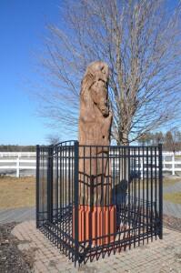 Rearing Horse Memory Pole Mason County Sculpture Trail