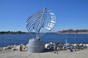 Reflections Waterfront Park Mason County Sculpture Trail Michigan