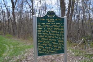 pine Island drive bridge Michigan historical marker