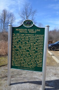 Meridian Baseline State Park Historical Marker Dual Initial Points