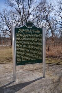 Meridian Baseline State Park Michigan Initial Points Land Survey