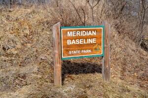 Meridian Baseline State Park Welcome Sign Michigan