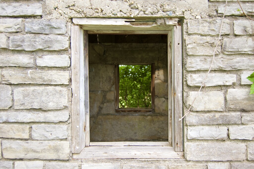 Awakon Park Abandoned Window Onaway Michigan