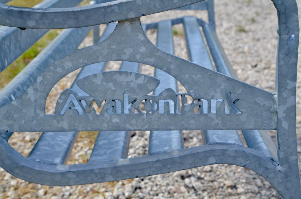 Awakon Park Bench Onaway Michigan