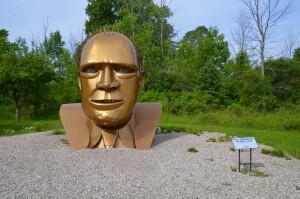 Awakon Park Gerlad R Ford Sculpture Onaway Michigan
