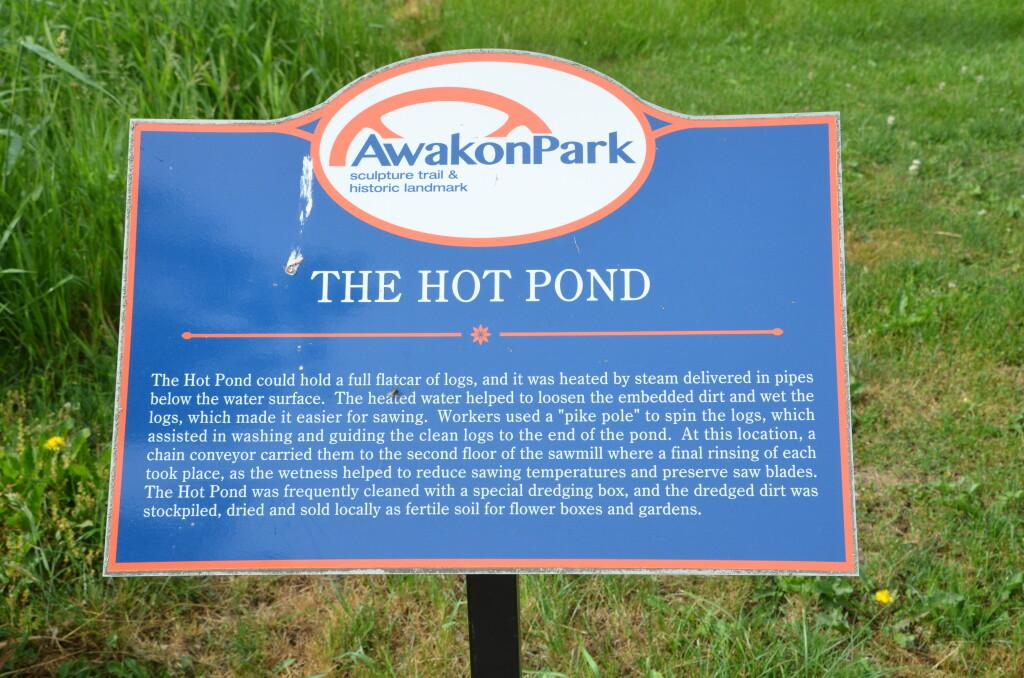 Awakon Park Hot Pond Information Sign Factory Ruins