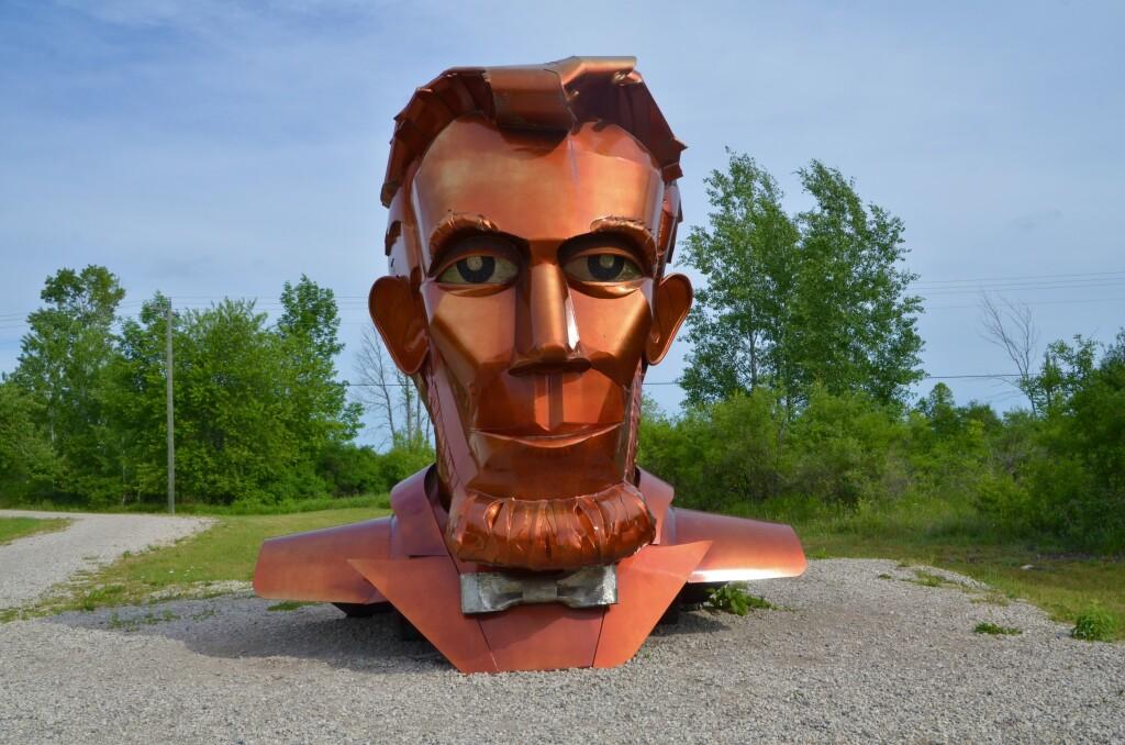 Awakon Park Onaway Michigan Abraham Lincoln Tom Moran Sculpture