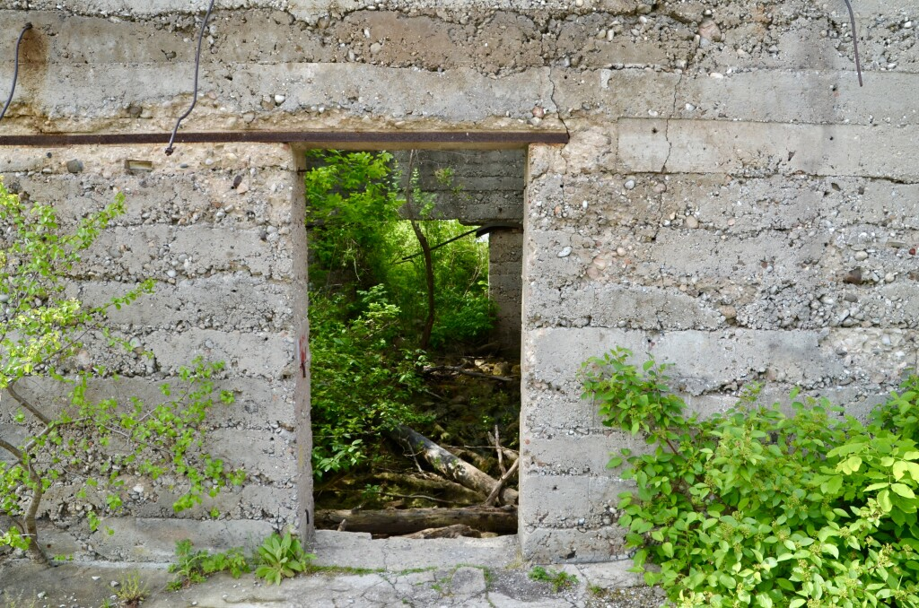 Awakon Park Onaway Michigan Factory Ruins Doorway