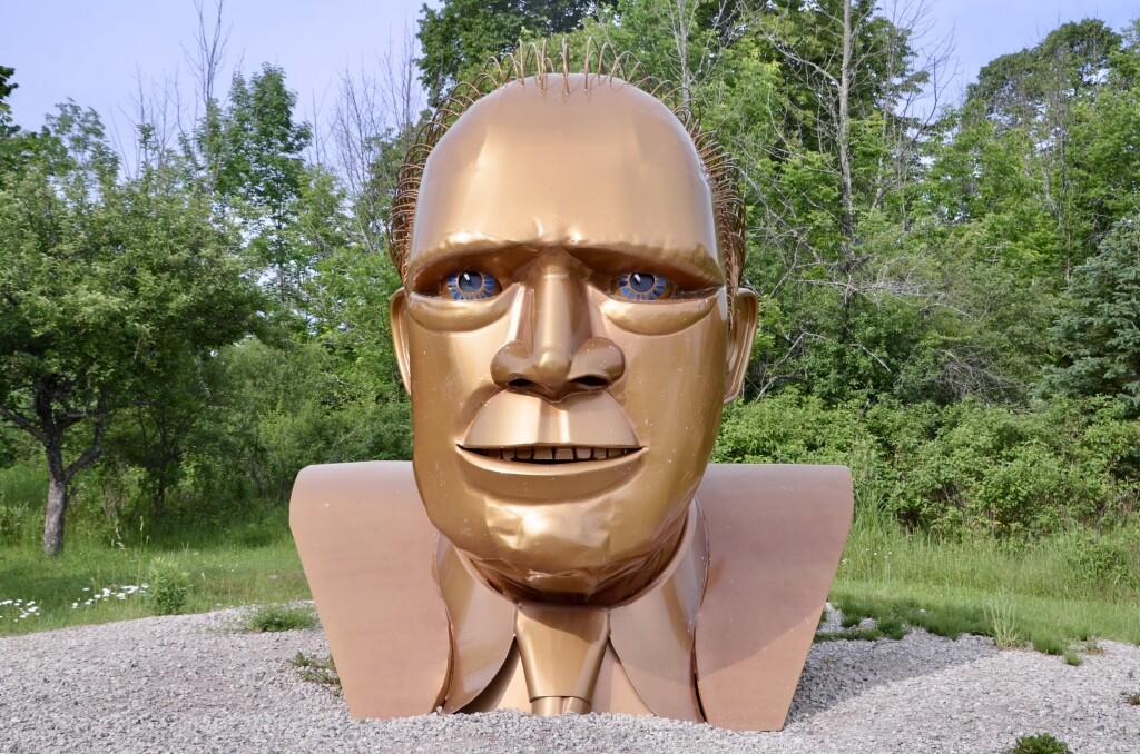 Awakon Park Onaway Michigan Gerald Ford Sculpture