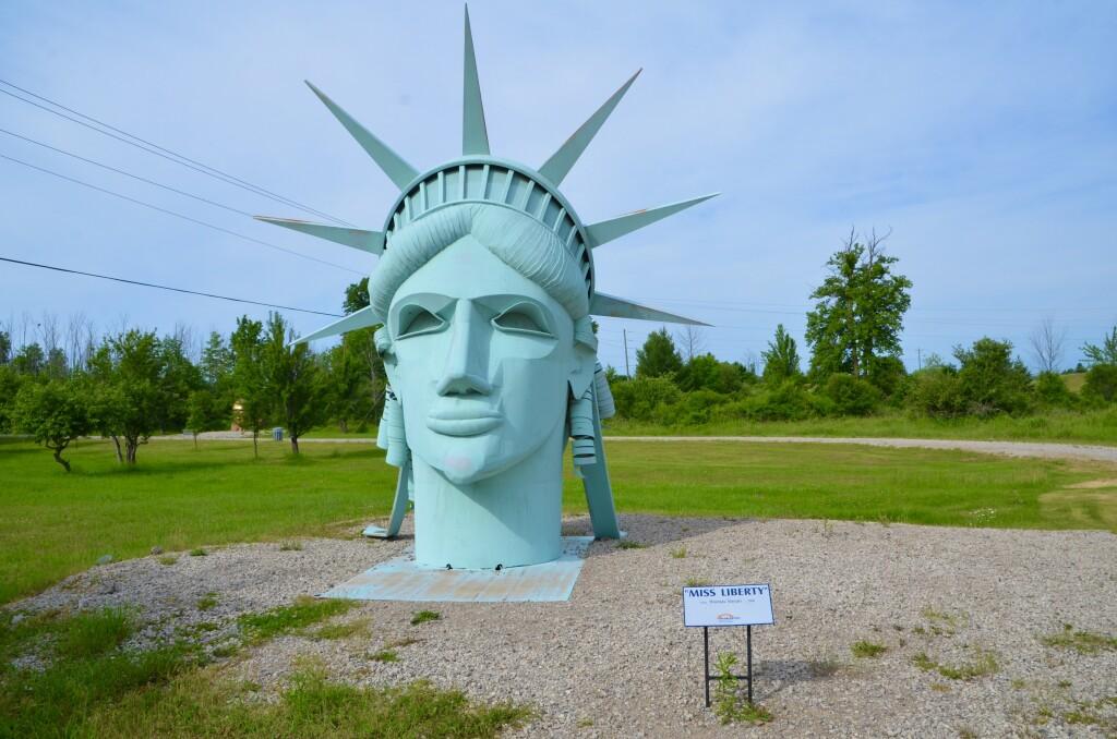 Awakon Park Sculpture Lady Liberty Onaway Michigan
