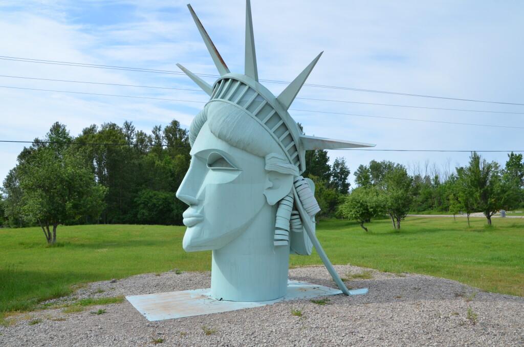 Awakon Park Sculpture Statue of Liberty Onaway Michigan