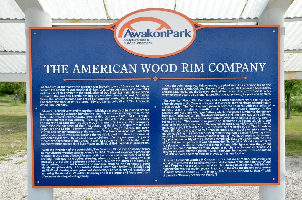 Awakon Park Sculptures American Wood Rim Company Information