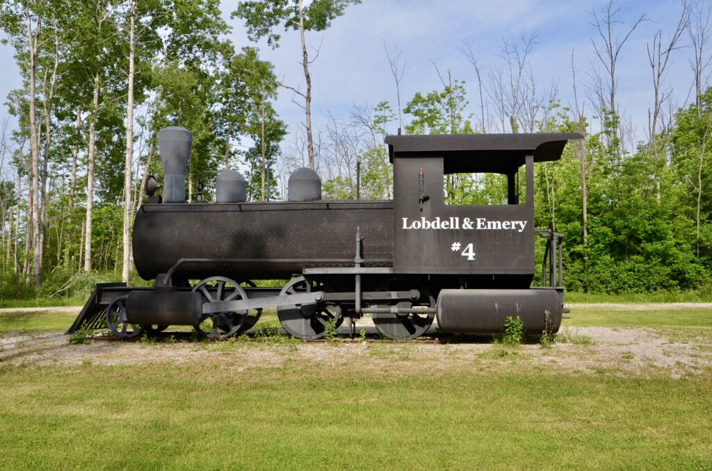 Awakon Park Train Sculpture Onaway Michigan
