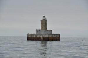 Lansing Shoal Lighthouse Lake Michigan Reflection