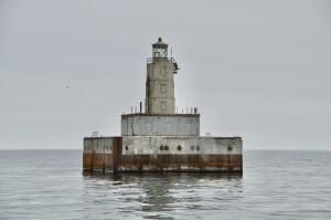 Lansing Shoal Lighthouse Sheplers Cruise Lake Michigan