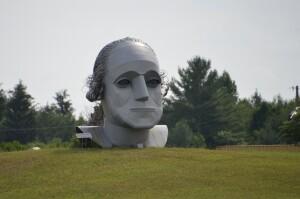 Moran Iron Works George Washington Sculpture Onaway Michigan