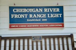 Cheboygan Front Range Light GLLKA Sign