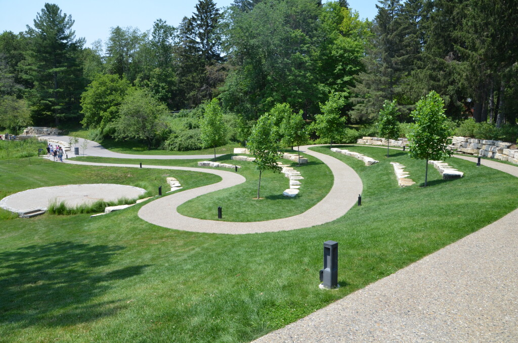 Dow Gardens Midland Michigan Path to Whiting Forest