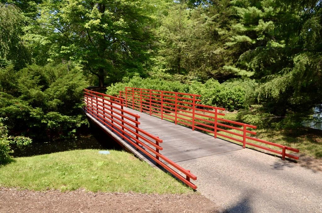 Dow Gardens Midland Michigan Red Bridge