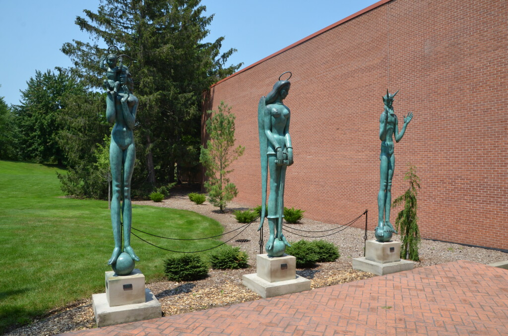 Dow Gardens Midland Michigan Statues