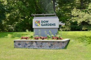 Dow Gardens Midland Michigan Welcome Sign