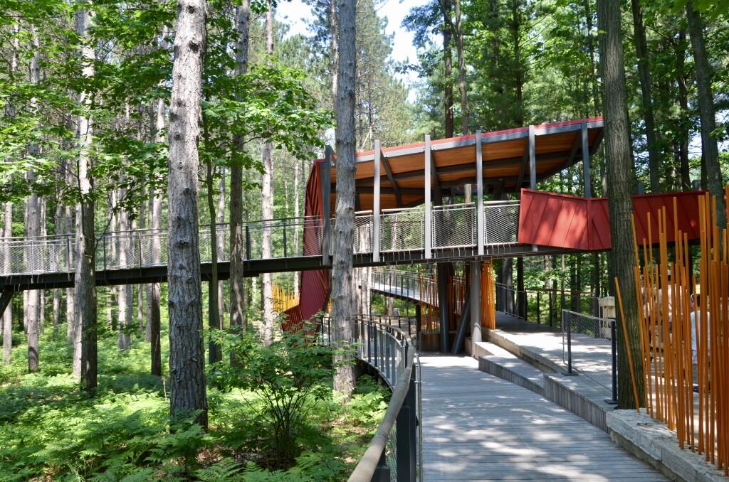 Dow Gardens Midland Michigan Whiting Forest Americas Longest Canopy Walk