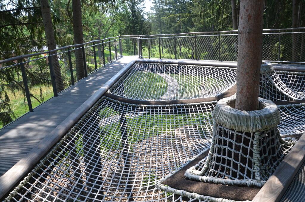 Dow Gardens Midland Michigan Whiting Forest Canopy Walk Netting