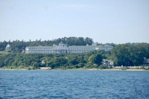 Grand Hotel Mackinac Island from water Best Family Resort