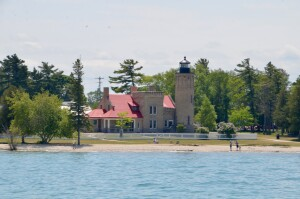 Old Mackinac Point Lighthouse from Sheplers Ferry 2021