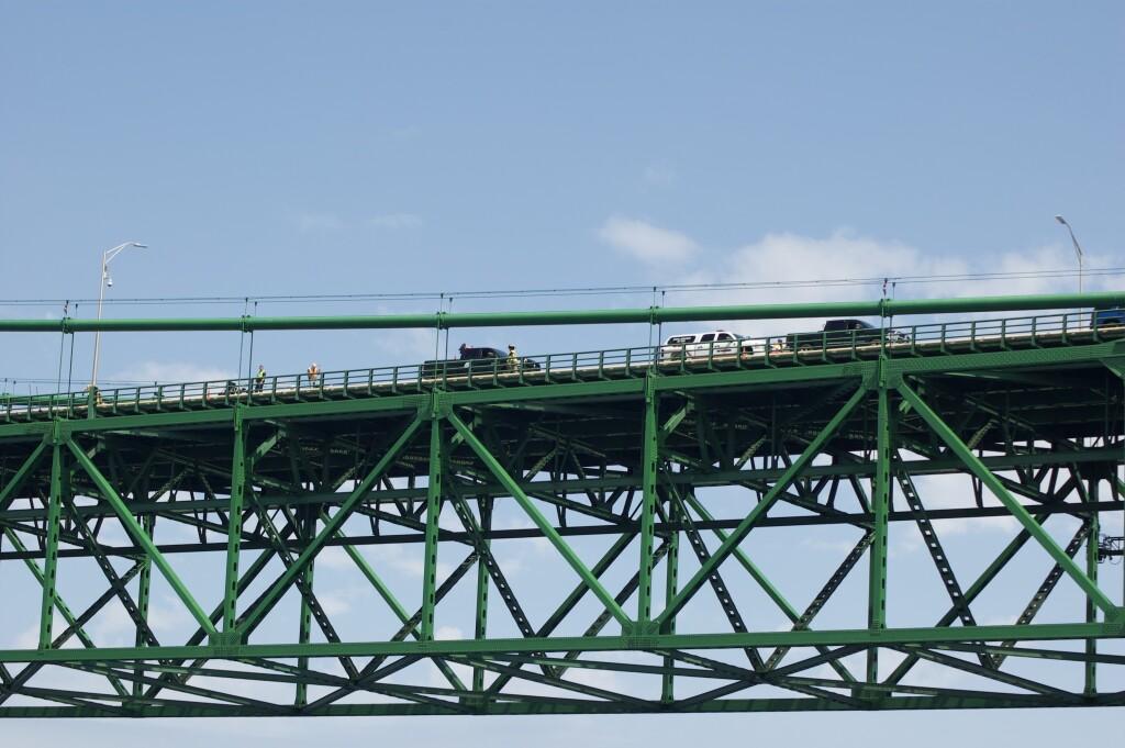 Sheplers Lighthouse Cruise 2021 Span Detail Mackinac Bridge