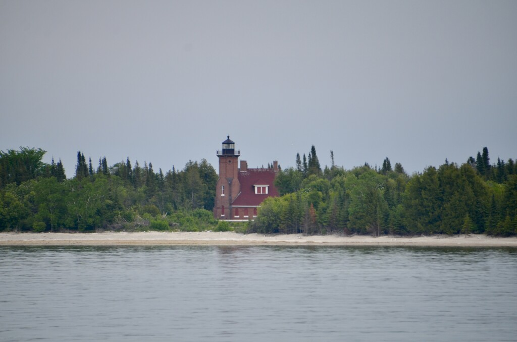 Sheplers Lighthouse Cruise Squaw Island Lake Michigan