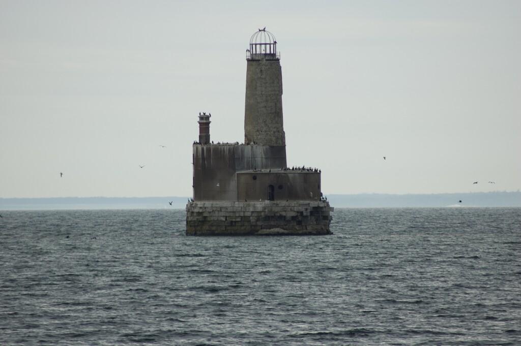 Sheplers Lighthouse Cruise Waugoshance Lighthouse Detail