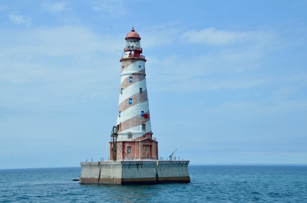 Sheplers Lighthouse Cruise White Shoal Light Lake Michigan