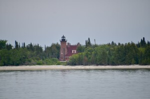 Squaw Island Lighthouse Lake Michigan
