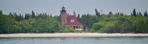 Squaw Island Lighthouse, Lake Michigan