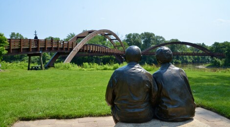 The Tridge in Midland is One of Michigan's Coolest and Most Unique Bridges