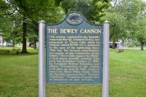 Three Oaks Dewey Cannon Historical Marker Michigan
