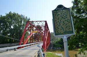 Currie Parkway Bridge Midland Michigan Historical Marker