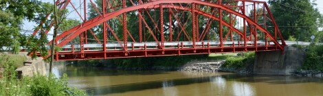 Michigan Roadside Attractions: Currie Parkway Bridge, Midland