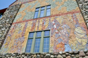 Midland County Courthouse Stucco Mural Detail