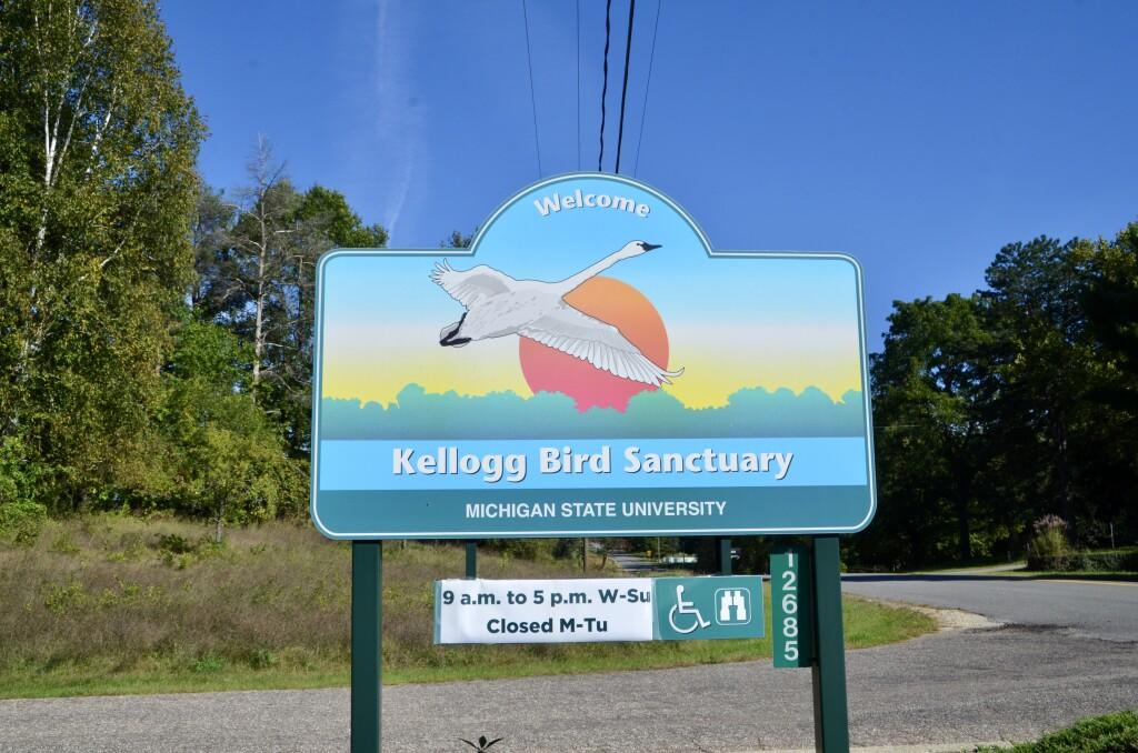 Kellogg Bird Sanctuary Augusta Michigan Welcome Sign