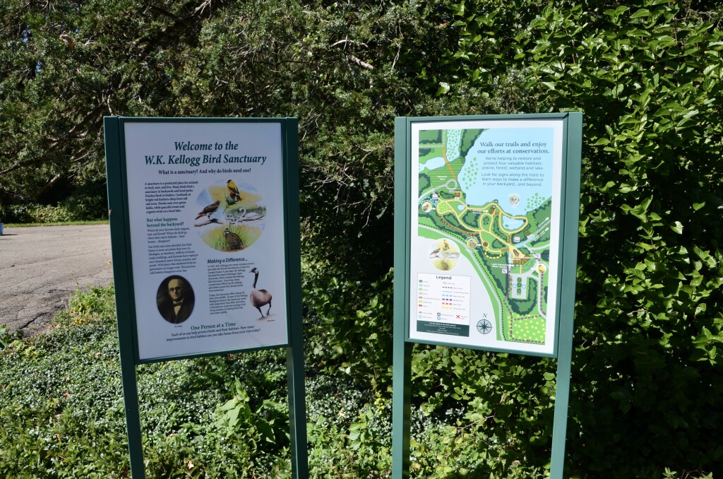 Kellogg Bird Sanctuary Information Sign Michigan